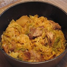 Cassouela is a typical pork and cabbage dish which is served in lots of parts of Italy during winter. This comforting and hearty dish is a speciality of Milan and is best eaten there but this recipe will help you attempt it at home first. Italian Dishes, Italian Recipes, Milan Food, Wine Recipes, Cooking Recipes, Pork And Cabbage, Savoy Cabbage, Sausage Stew, Pork Stew