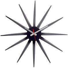 Starflash Wall Clock in Black Silver Red from The Modern Source