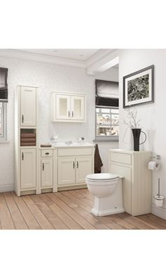 Butler & Rose Darcy Traditional Bathroom Cabinet With Semi-Recessed Basin - Vanilla Modern Vanity, Bathroom Vanity, Modern Bathroom, Vanity, Traditional Bathroom Cabinets, House, Bathroom Units, Basin, Bathroom