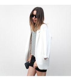 Zara blazer, Alexander Wang skirt, Bassike shirt