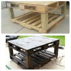 Diy success! Pallet table