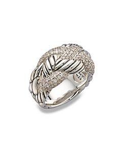 David Yurman - Diamond & Sterling Silver Woven Ring