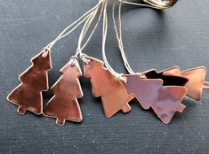 Copper Ornaments, Handmade Ornaments, Handmade Gifts, Christmas Tree Ornaments, Christmas Decorations, Teacher Christmas Gifts, Ornaments Design, Christmas Aesthetic, Gift Tags