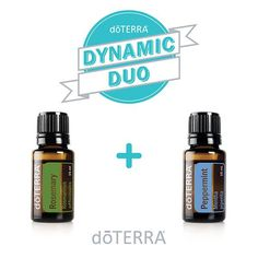 dōTERRA'S Rosemary herbaceous scent blends well with Peppermint's minty and hot aromatic smell.