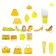 """""""jaune"""" by lilo-953 ❤ liked on Polyvore featuring Christian Louboutin, Balenciaga, Louis Vuitton, Yves Saint Laurent, Hermès, Givenchy, Lacoste, Chanel, BELLEROSE and Pier 1 Imports"""