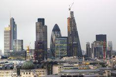 London skyline. I can see where I lived