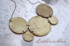 [DIY] Leather statement necklace