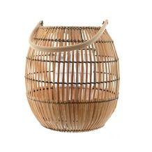 Windlicht bamboe/glas naturel Ø49x50 cm