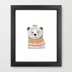 Mr. Bear Framed Art Print