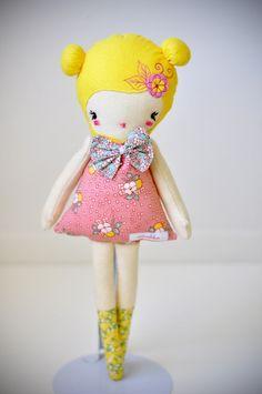 Love lulu cloth doll by Nooshka on Etsy