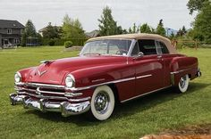 1953 Chrysler New Yorker Deluxe Convertible....nifty....