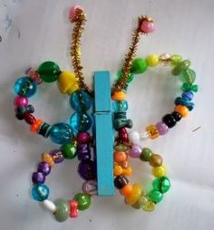 Beaded Butterfly Craft for Kids