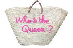 L'atelier Des Petites Bauloises: Panier de plage Who's the Queen?