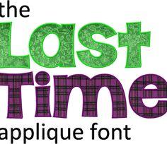The Last Time Machine Applique Font