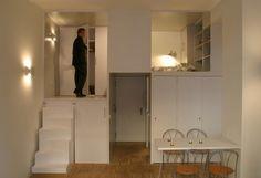 Multifunkcionális bútorelemekkel zseniálisan kihasználták ennek az icipici lakásnak minden négyzetcentijét