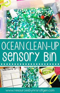 Earth Day Exploration Stations or Centers | Use these 15 activities in your Kindergarten classroom or homeschool to celebrate Earth Day in April or for a science unit on recycle and earth preservation. You get literacy math, science, sensory, and fine motor activities. Most activities include a corresponding practice worksheet page. Click through to see all the details and more images. (home school, Kinder, Kindy)