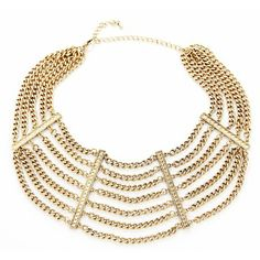 This layered gold chain collar will add that POP to any look!
