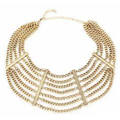 link collar statement necklace