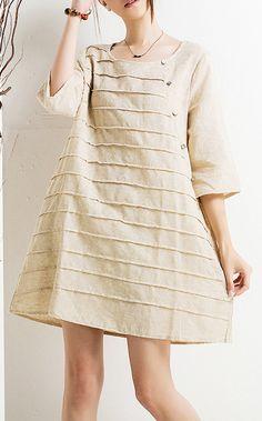 Nude cotton sundress plus size maternity dresses half sleeve shirt blouse top