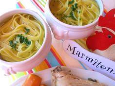 muscade, ciboulette, oeuf, huile, poireau, farine, cuisse de poulet, oignon, eau, eau, sel, carotte, céleri