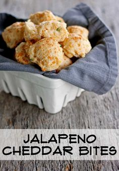 Jalapeño Cheddar Bites - an easy appetizer from www.theshabbycreekcottage.com