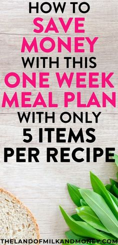 Yum! This weekly meal plan is great for beginners like me with tips for saving money by staying on a budget. These easy recipes are so healthy for my family too - there are even vegetarian dinners for the week which are great for weight loss! These ideas