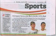 Sun Sentinel report (July 22, 2012) on our USTA Boys 18 & 16 Clay Court National Championships hosted by the City of Delray Beach