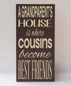 Take a look at the Brown 'Grandparent's House' Wall Art on #zulily today!