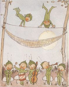 """Mabel Lucie Attwell, in """"Going to Bed Tales"""", Michael O'Mara Bks Ltd., 1998 ed."""