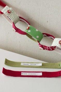 DIY Christmas Countdown Fabric Chain
