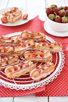Eklerki z truskawkami