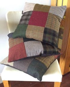 Lots of tweed cushion covers in the webshop. www.bakerstreethandmade.com