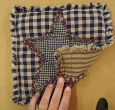 Ideas for Homespun Quilt Scraps, Potholder