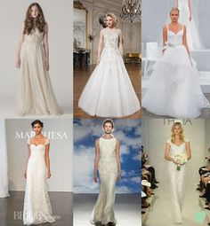 Ethereal Wedding Dresses for 2015 Mood Board from The Wedding Community