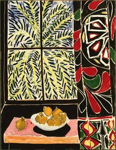 Matisse paints the fabric...