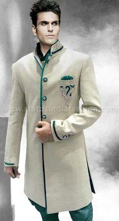 sherwani for men, sherwani uk, Asian clothes, wedding sherwani, Indian sherwani… Sherwani Groom, Mens Sherwani, Wedding Sherwani, Indian Wedding Wear, Wedding Men, Wedding Suits, Groom Wear, Groom Outfit, Indian Men Fashion