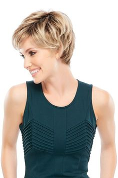 Wigs Women - Allure is a short pixie wig designed with synthetic hair and traditional cap construction. Allure is a favorite among hair loss wigs for women.
