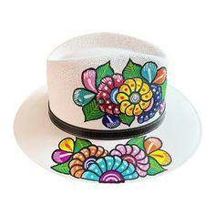 Gonzalez Accessories | New Mexican Artisanal Hand Painted Hat Fedora | Poshmark Painted Hats, Painted Clothes, Hand Painted, New Mexican, Women Accessories, Artisan, Hands, Make It Yourself, Handmade