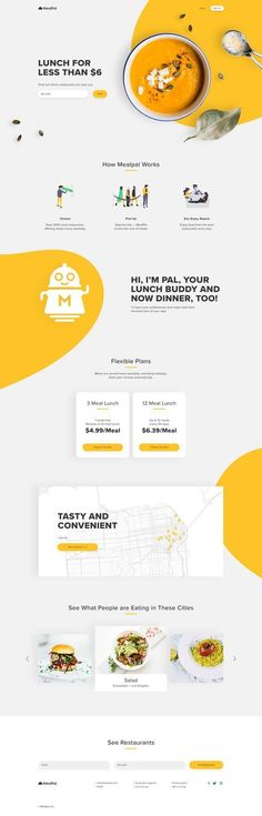 Landing page design - Landing Page - Ideas of Landing Page - Landing page redesign website home page landing design web design ui ux food restaurant catering full. Ui Ux Design, Design Sites, Food Web Design, Web Design Mobile, Design Agency, Responsive Web Design, Graphic Design, Website Design Inspiration, Website Design Layout