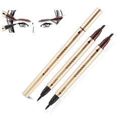 1 PCS  Beauty Women Double-use long lasting Liquid Eyeliner Eyebrow coffee eyebrow Pencil Make Up Waterproof Tool for eye makeup