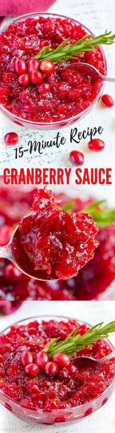 Delicious Cranberry Sauce in 15 minutes!