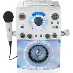THE SINGING MACHINE SML385w Sound & Light Show Karaoke System (White)