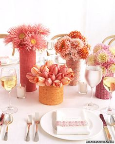 Fabric-Wrapped Centerpieces