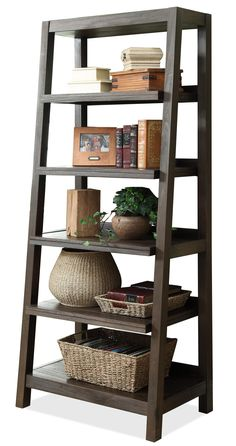 Promenade Canted Bookcase By Riverside Furniture