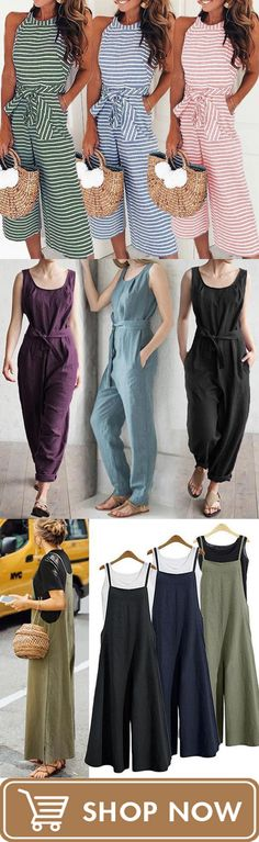 Casual cotton jumpsuit Source by lilyroyalzoe Pretty Outfits, Stylish Outfits, Fashion Outfits, Fashion Ideas, Sewing Clothes Women, Clothes For Women, Mode Ab 50, Casual Jumpsuit, Cotton Jumpsuit