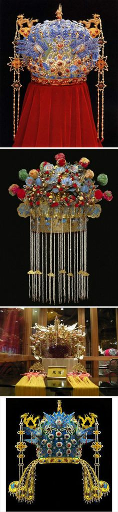 Coronet, is the necessary ornaments of bride in ancient China, So the Coronet,'s design is also very exquisite, with the influence of itself heavier and the veil's coming, the pieces of jewelry is lost.