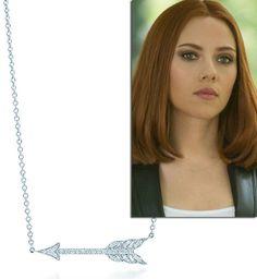 Tiffany Hearts Arrow pendant worn in Captain America by Natasha Romanoff - OH MY GOD!!!!! *squeals*
