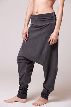 harem pants dyed with stone wash effect by duende74 on Etsy