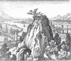 """""""Atalante Fugitive"""" de Michael Maïer (1618), Emblème VII:  """"L'oisillon s'envole de son nid et y retombe"""""""