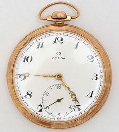 0dd099259f9 OMEGA - Relógio de bolso em ouro amarelo 18 k. Funcionando. Peso bruto 74